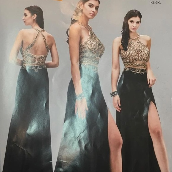 Dresses Gold And Black Prom Dress Poshmark